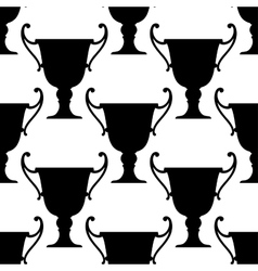 Sport trophy cups seamless pattern vector
