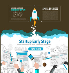 Startup Fly brrwn vector image