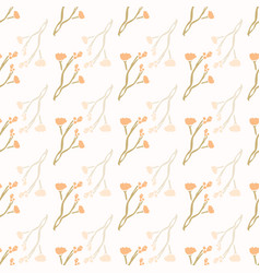 Stemmed daisy wildflower motif background naive vector