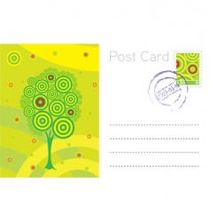 summer post card template vector image
