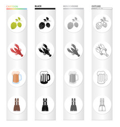 Treats food textiles and other web icon in vector