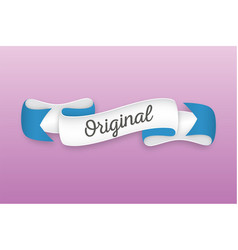 Trendy retro ribbon with text original colorful vector
