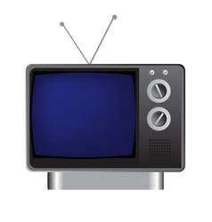 vintage television vector image