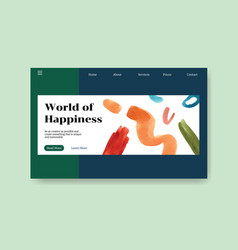website template with shopping design vector image