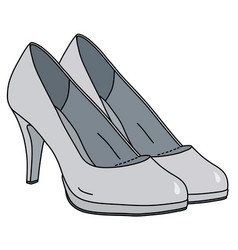 White womans shoes on high heels vector