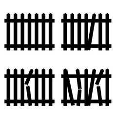 wooden fence in black color vector image