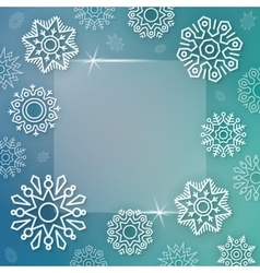 Abstract Christmas background with linear vector image
