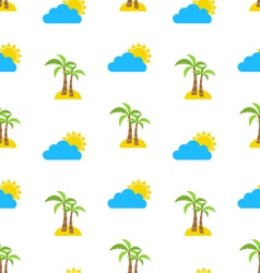 Abstract Seamless Pattern with Tropical Palm Trees vector image