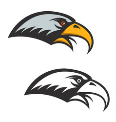 eagle head icon isolated on white background vector image