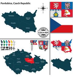 map of pardubice czech republic vector image