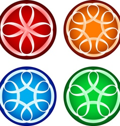 Abstract round forms vector image vector image