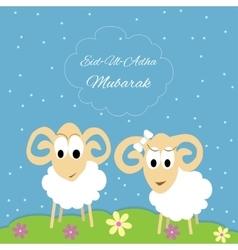 Eid-al-adha greeting card vector
