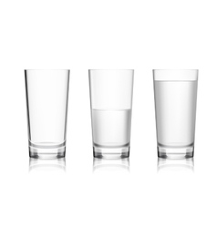 Full and empty glass vector image vector image