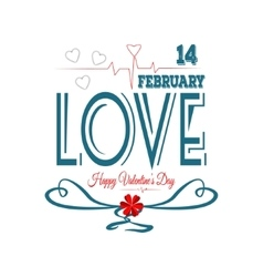 Happy valentines day Fourteen february vector image vector image