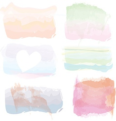Set of watercolor banners frames splashes vector image vector image
