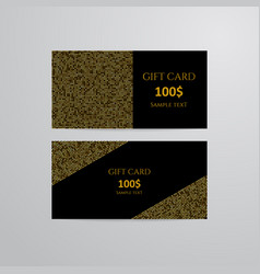 gift cards with gold vector image