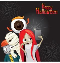 Halloween Ghost Selfie vector image vector image