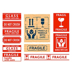 handle with care stickers vector image vector image
