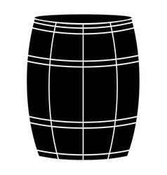 wine or beer barrels black color icon vector image