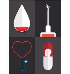 Blood syringe vector image