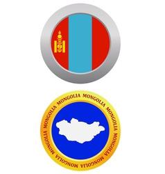 button as a symbol MONGOLIA vector image