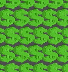 Dollar seamless pattern Green Dollar background vector image