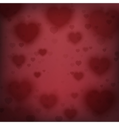 Abstract background with blurred hearts vector image