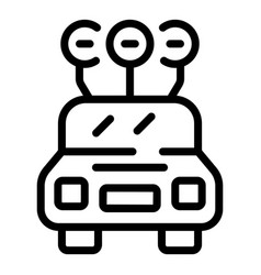 Accessible rent car icon outline style vector