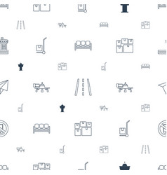 Airport icons pattern seamless white background vector