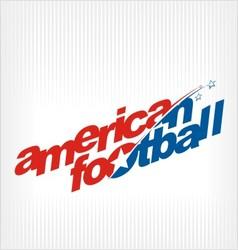 american football logo image symbol vector image