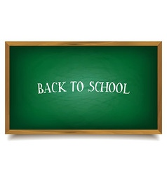 Back to school The inscription on the blackboard vector image