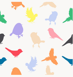 birds silhouettes fullcolor pattern vector image