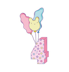 birthday candle number vector image