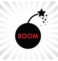 Boom bomb icon vector