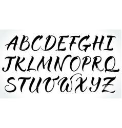 Brushpen lettering alphabet vector