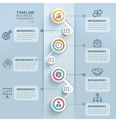 Business timeline infographics template vector image