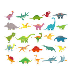 cartoon dinosaurs badino prehistoric animals vector image