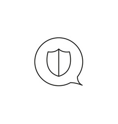 chat protection icon vector image