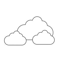 Clouds icon ima vector