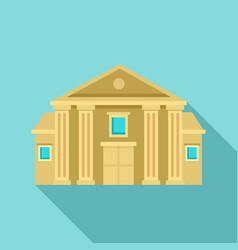 column courthouse icon flat style vector image