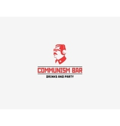 Communism style logo restaurant bar vector image