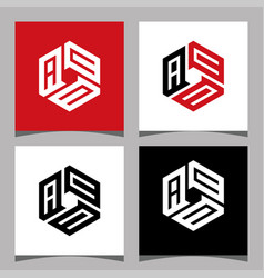 Creative initial letter acc logo design concept vector