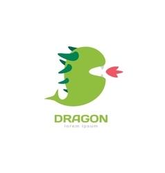 Cute dragon silhouette logo icon vector