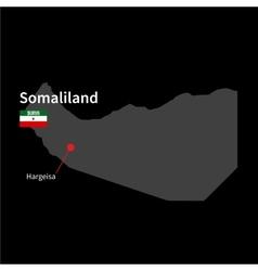 detailed map somaliland and capital city vector image