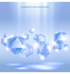 Diamond background vector