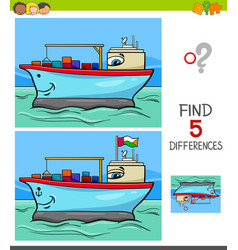 differences game with container ship vector image