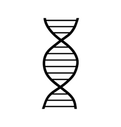 Dna strand icon simple style vector