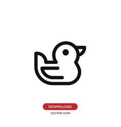 Duck icon vector