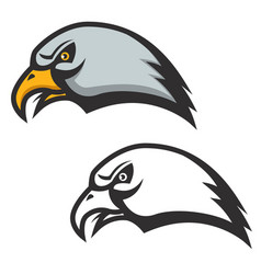 Eagle head icon isolated on white background vector