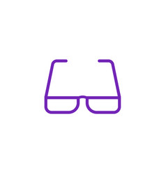 eyeglasses with violet bezel icon in flat style vector image